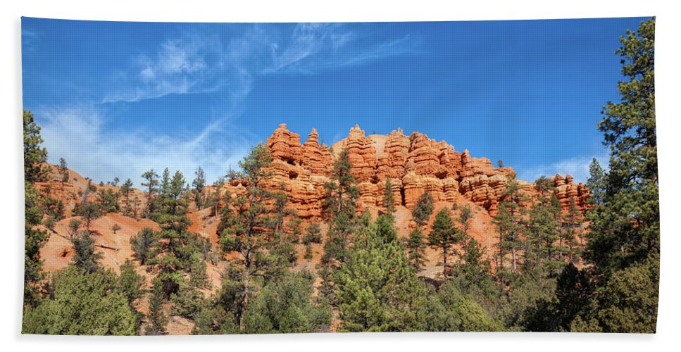 Adventure Beach Towel featuring the photograph Red Canyon Tableau by John M Bailey