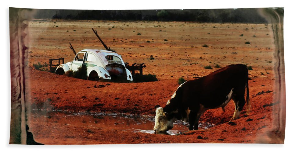 Bull Beach Towel featuring the photograph Red Day by Douglas Barnard