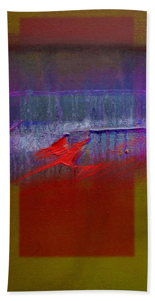 Landscape Beach Towel featuring the painting Red Dragon Autumn by Charles Stuart