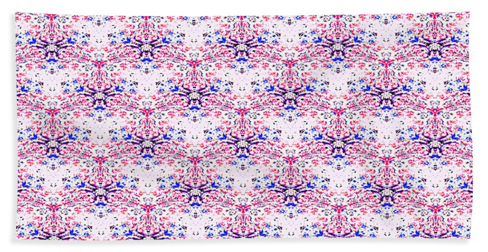 Pattern Art Digital Patterns Artist Red White Blue Texture Fabric Fabrics Cloth Clothing Beach Towel featuring the digital art Red Fabric Pattern by Craig Walters