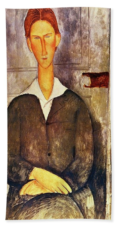 b1211c85b1a Red Haired Young Man Amedeo Modigliani 1906 Beach Sheet for Sale by Movie  Poster Prints