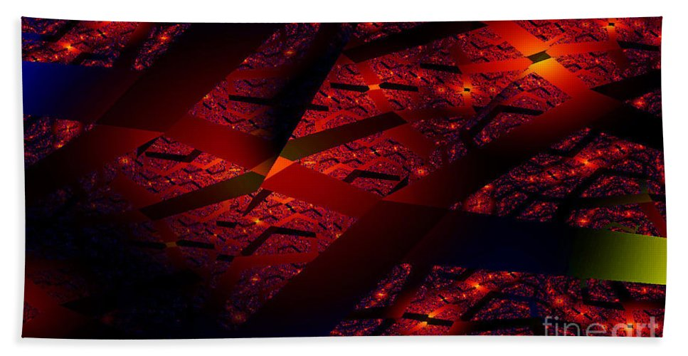 Clay Beach Towel featuring the digital art Red Hot Confetti by Clayton Bruster