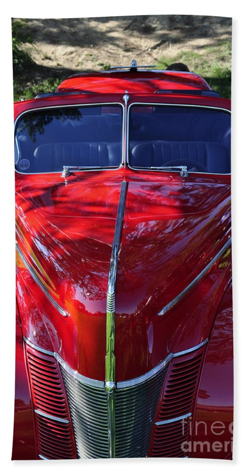 Clay Beach Sheet featuring the photograph Red Hot Rod by Clayton Bruster