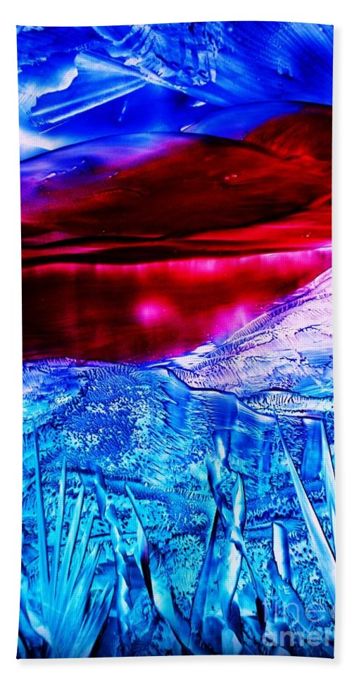 Desert Beach Towel featuring the painting Red Lake by Melinda Etzold