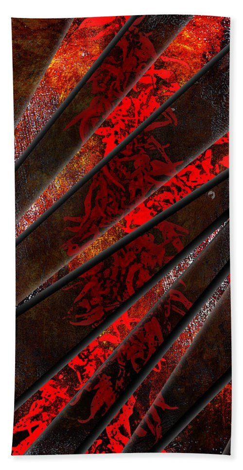 3d Beach Towel featuring the digital art Red Pepper Abstract by Svetlana Sewell