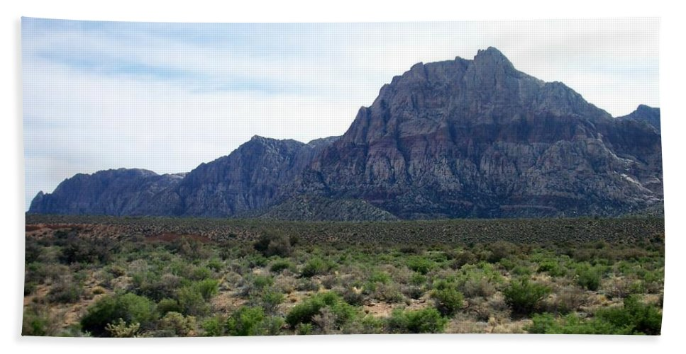 Red Rock Canyon Beach Towel featuring the photograph Red Rock Canyon 3 by Anita Burgermeister