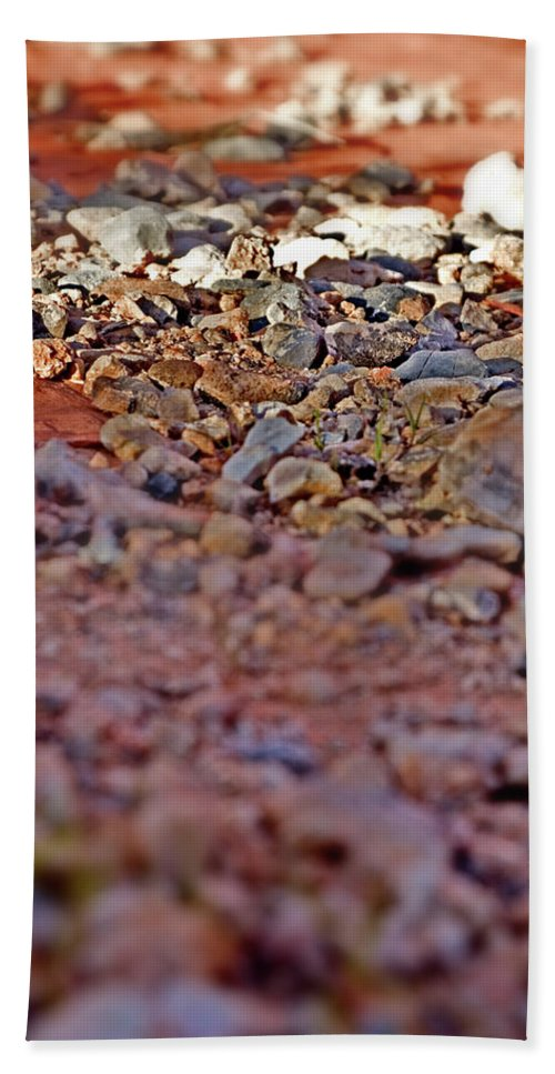 Red Rock Canyon Stones Beach Towel featuring the photograph Red Rock Canyon Stones 1 by Chris Brannen