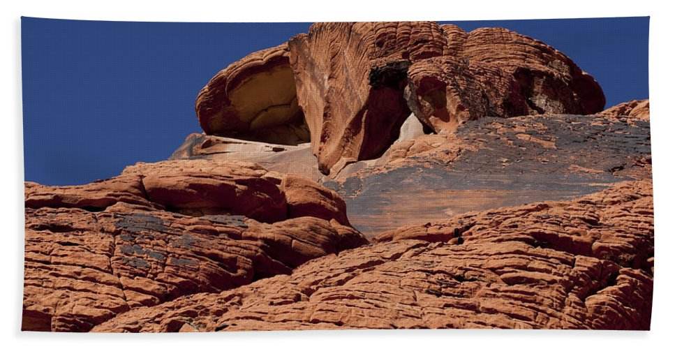 Rocks Beach Towel featuring the photograph Red Rock Texture 2 by Kelley King