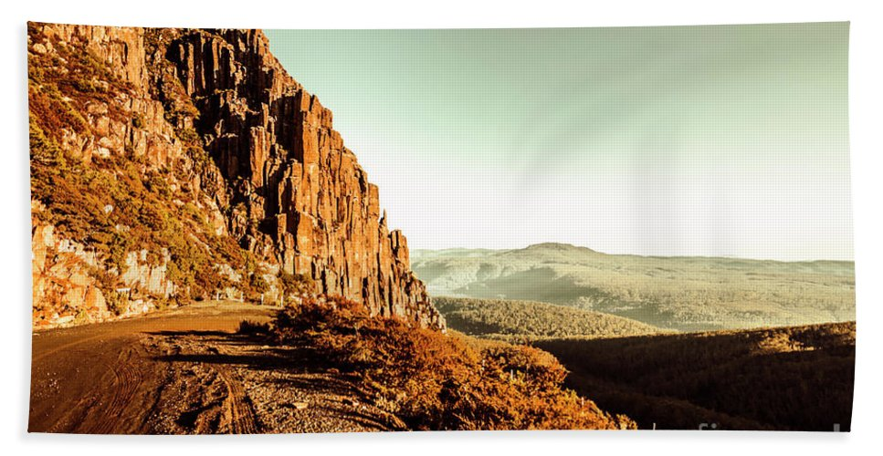 Tasmania Beach Towel featuring the photograph Red Rural Road by Jorgo Photography - Wall Art Gallery