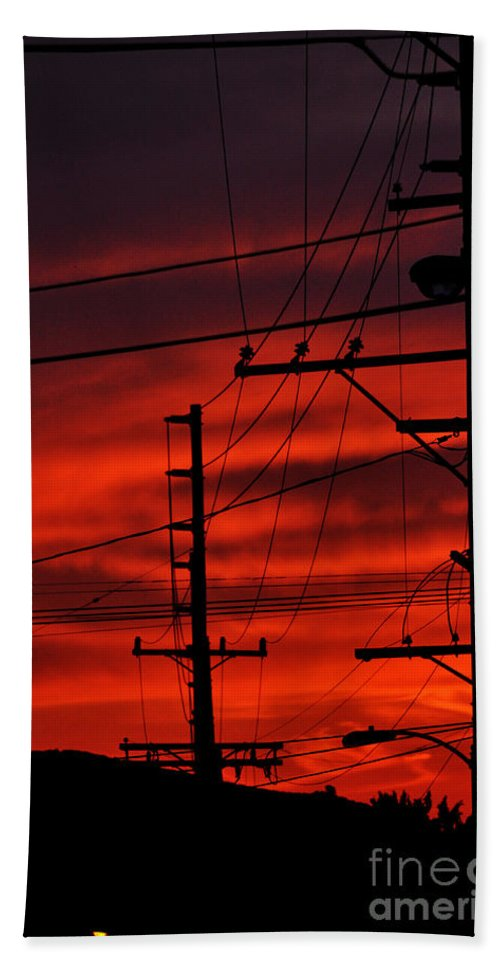 Clay Beach Towel featuring the photograph Red Sunset by Clayton Bruster