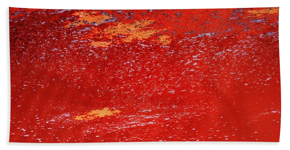Red Beach Towel featuring the photograph Red Surf On The Beach by Ian MacDonald