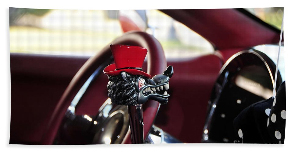 Top Hat Beach Towel featuring the photograph Red Top Hat by David Lee Thompson