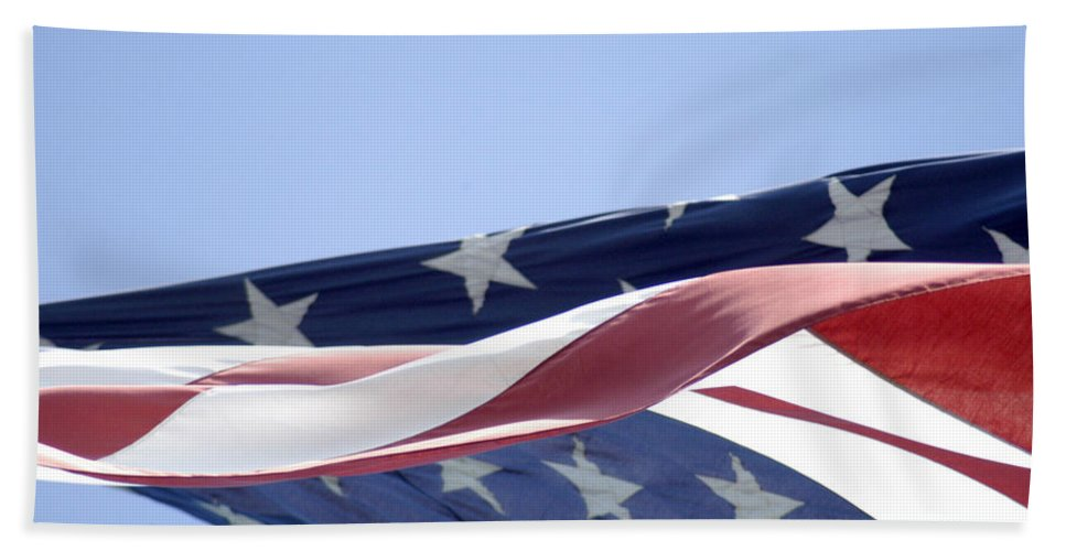 United States Flag Beach Towel featuring the photograph Red White And Blue - American Flag by D'Arcy Evans