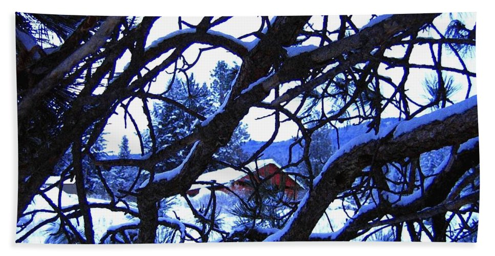Red Woodshed Beach Towel featuring the photograph Red Woodshed by Will Borden