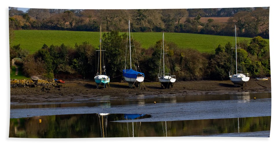 Mylor Creek Beach Towel featuring the photograph Redgate Mylor by Brian Roscorla