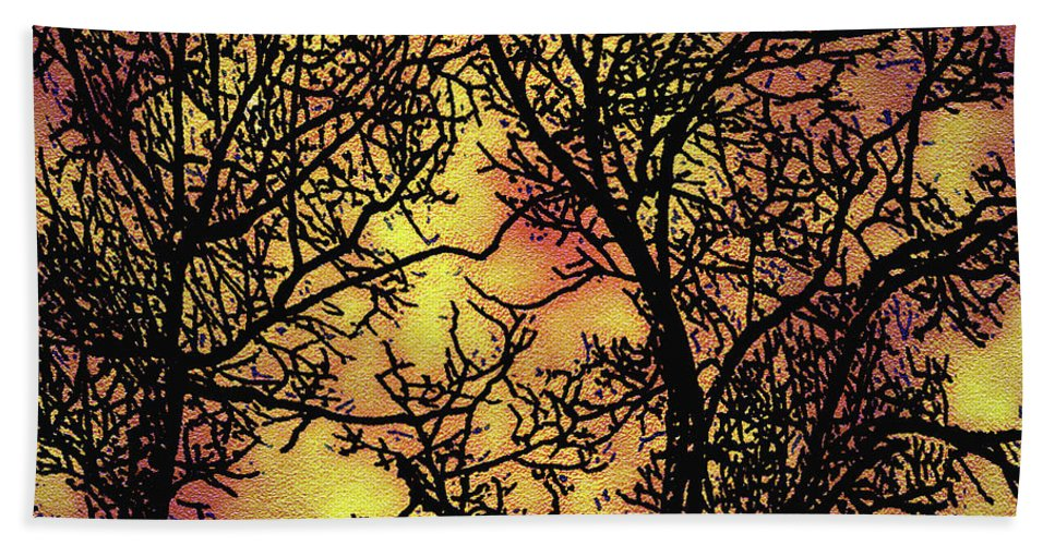 Trees Beach Towel featuring the digital art Rediscovering The Light In The Ordinary by Claudia O'Brien