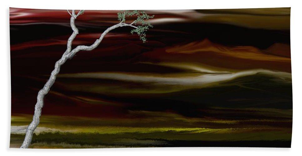 Digital Landscape Beach Sheet featuring the digital art Redscape by David Lane