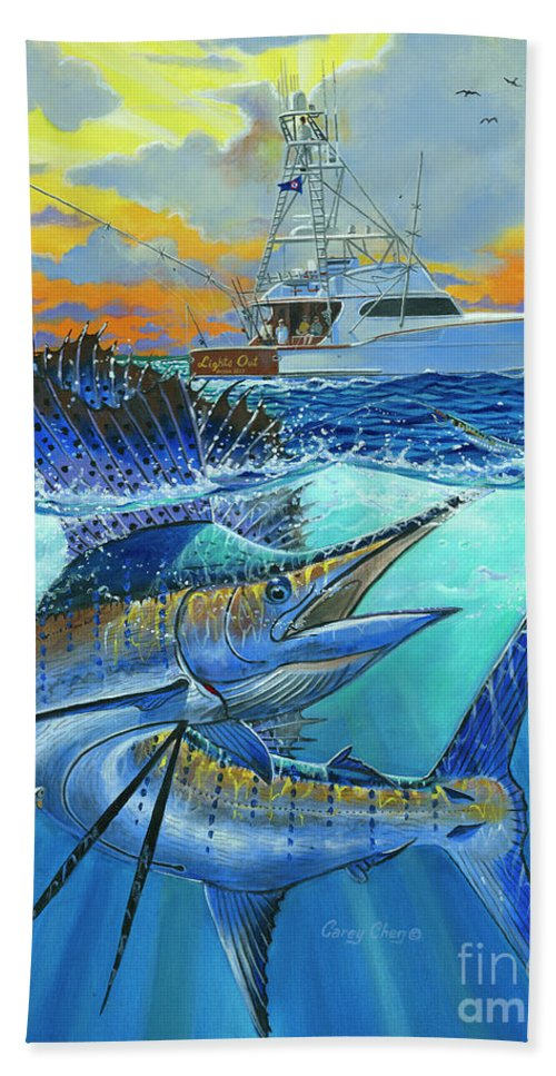 Sailfish Beach Towel featuring the painting Reef Cup 2017 by Carey Chen