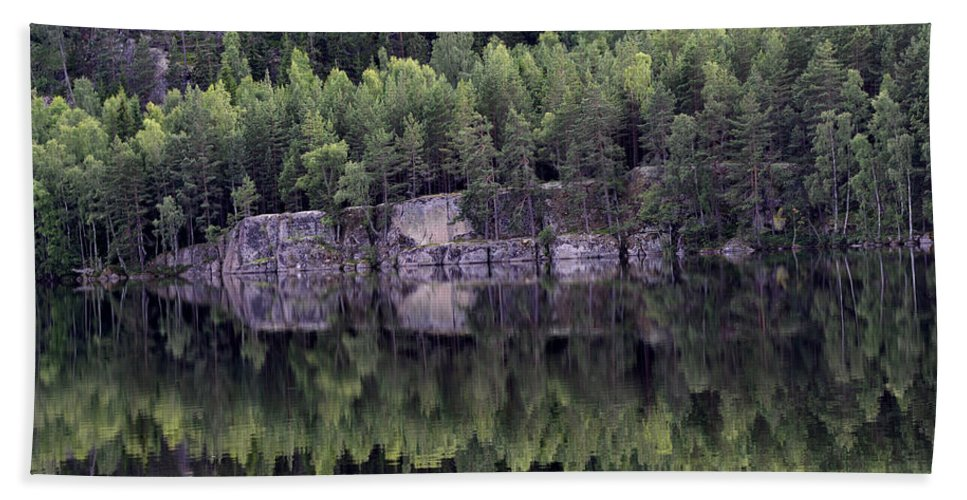 Lake Beach Towel featuring the photograph Reflection by Gunnar Lundquist