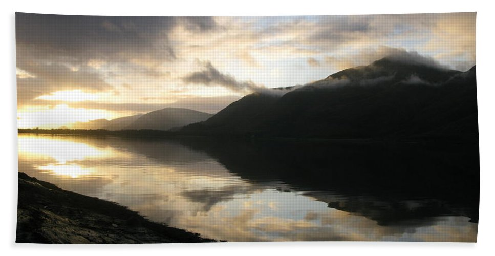 Scotland Beach Towel featuring the photograph Reflection by Maria Joy