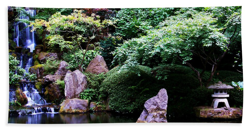 Reflection Beach Towel featuring the photograph Reflection Pond by Anthony Jones
