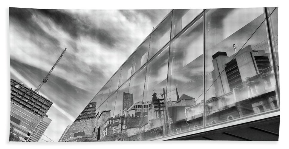 Ago Beach Towel featuring the photograph Reflections, Art Gallery Of Ontario, Toronto by Eric Drumm