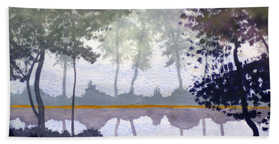 2d Beach Towel featuring the painting Reflections by Brian Wallace