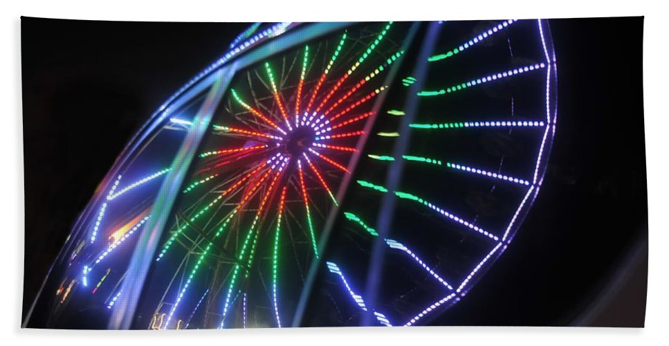 Fair Beach Towel featuring the photograph Reflections Of Ferris by David Lee Thompson