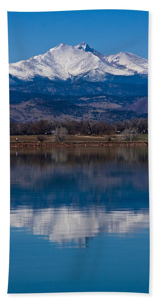 Twin Peaks Beach Towel featuring the photograph Reflections Of The Twin Peaks by James BO Insogna