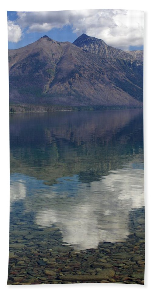 Lake Beach Towel featuring the photograph Reflections On The Lake by Marty Koch