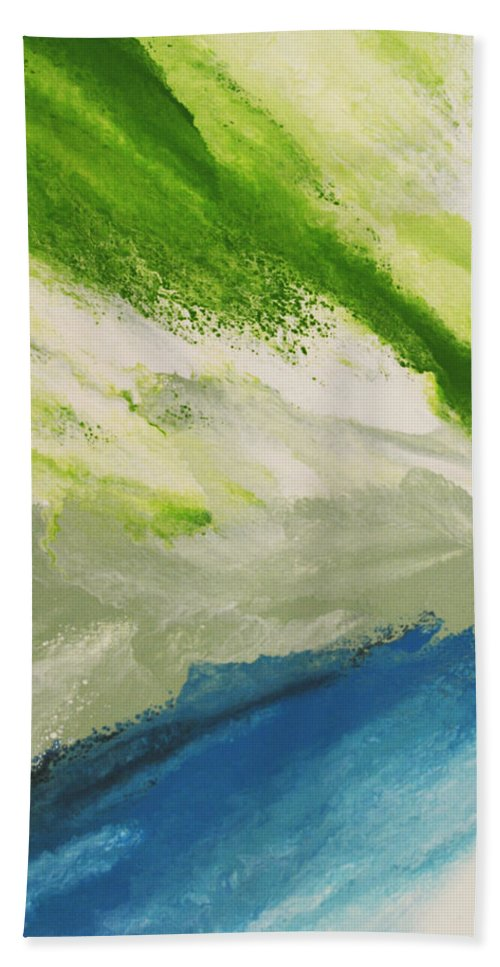 Water Beach Towel featuring the painting Refresh by Linda Bailey