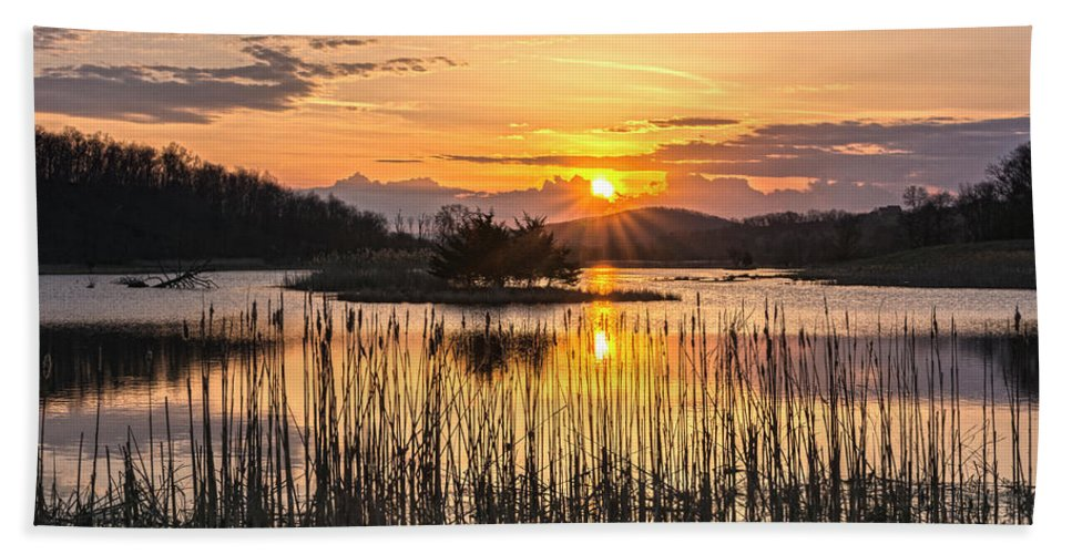 Sunrise Beach Towel featuring the photograph Rejoicing Easter Morning Skies by Angelo Marcialis Melody Of Light Photography