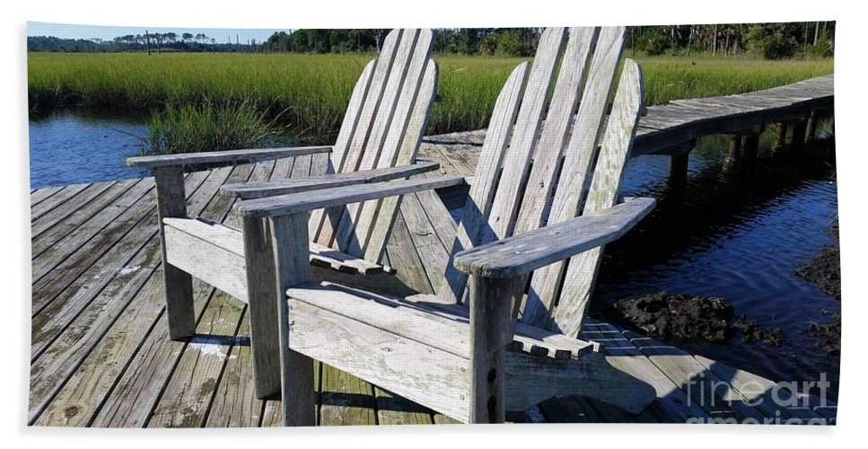 Dock Beach Towel featuring the photograph Relaxation by Katherine W Morse