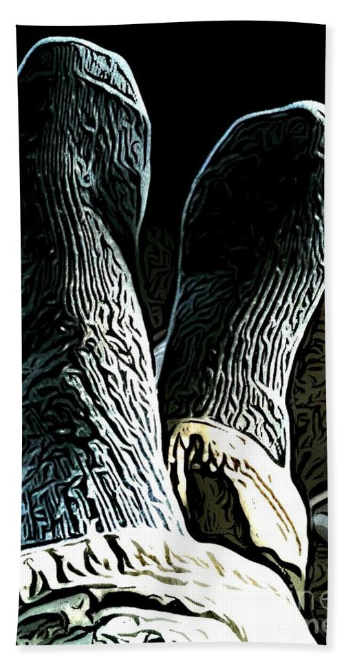 Feet Beach Towel featuring the digital art Relaxed by Ron Bissett