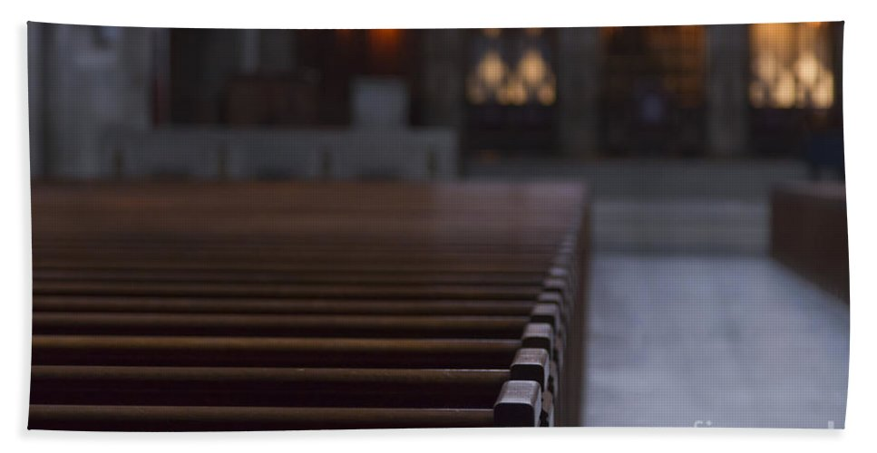 Pews Beach Towel featuring the photograph Religion by Margie Hurwich