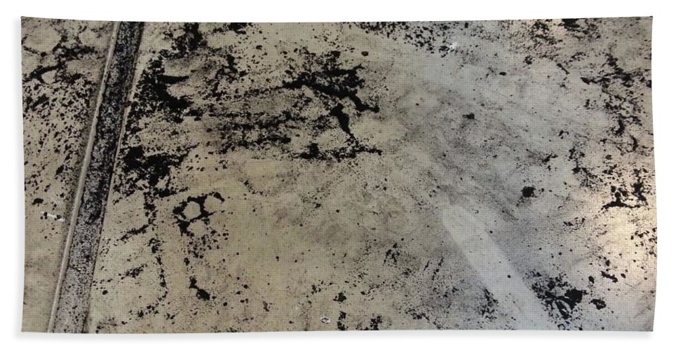 Art Beach Towel featuring the mixed media Remains 3 by Nour Refaat