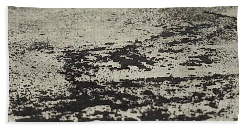 Art Beach Towel featuring the mixed media Remains 4 by Nour Refaat
