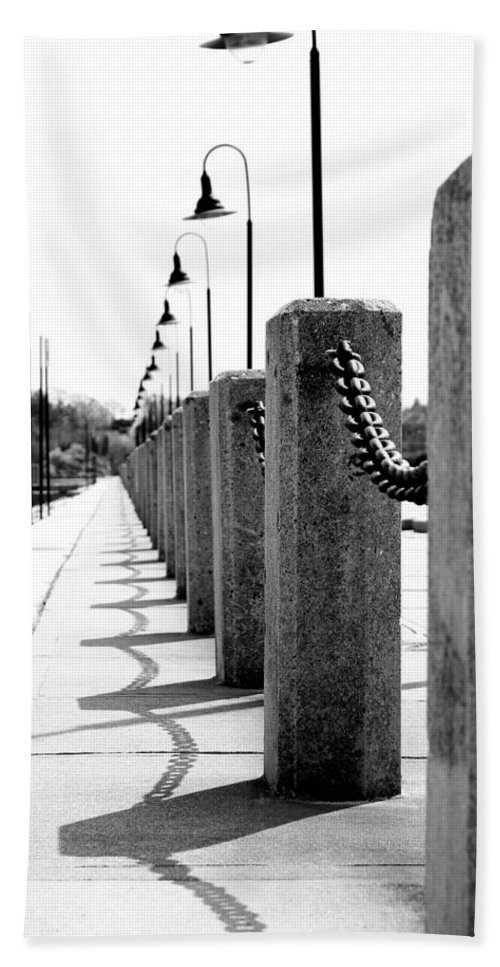 Posts Beach Towel featuring the photograph Repetition by Greg Fortier
