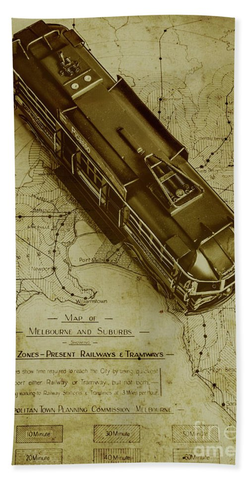Vintage Beach Towel featuring the photograph Replicating Past Tram Transit by Jorgo Photography - Wall Art Gallery
