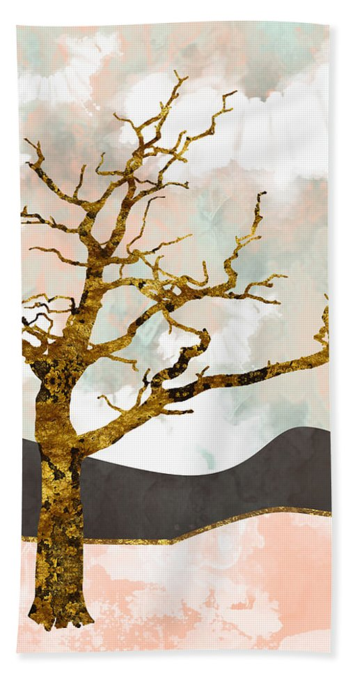 Tree Beach Towel featuring the digital art Resolute by Katherine Smit