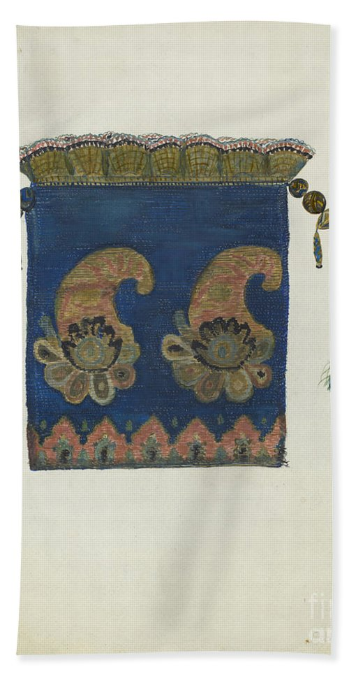 Beach Towel featuring the drawing Reticule by Edna C. Rex