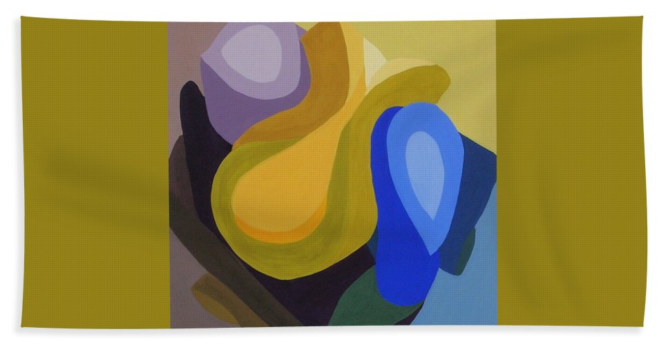 Abstract Beach Towel featuring the painting Rhapsody In Color by Cori Solomon