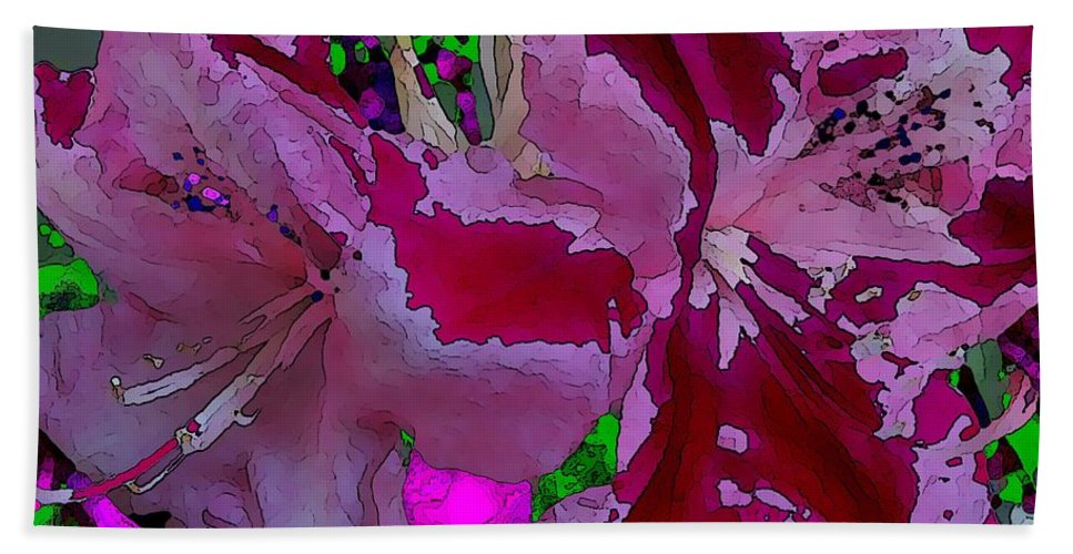 Abstract Beach Towel featuring the digital art Rhody Gone Wild by Tim Allen