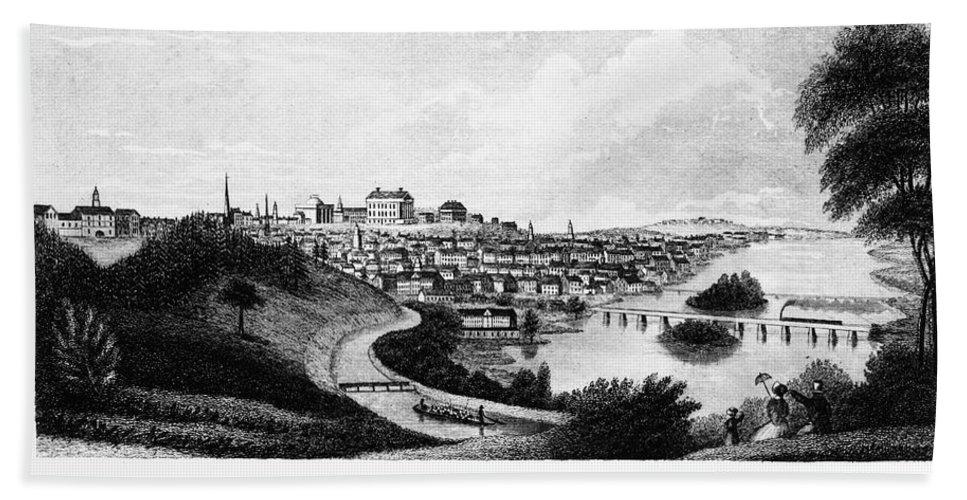 1856 Beach Towel featuring the photograph Richmond, Virginia, 1856 by Granger