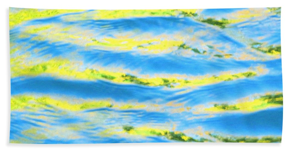 Calm Beach Towel featuring the photograph Riding A Wave by Sybil Staples