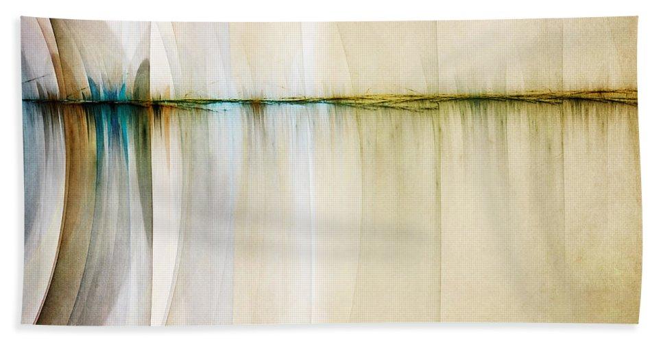 Digital Artwork Beach Sheet featuring the digital art Rift In Time by Scott Norris