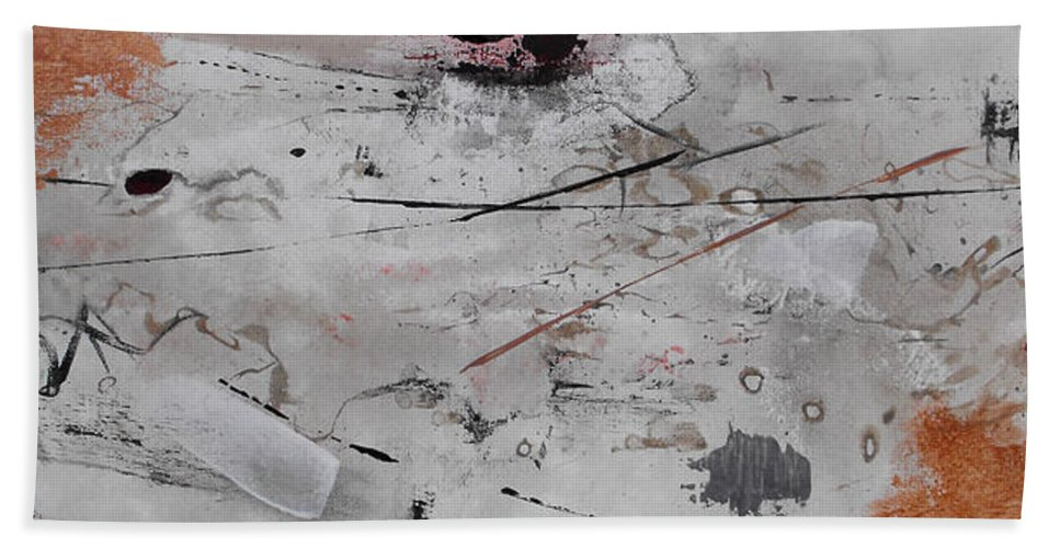 Abstract Beach Towel featuring the painting Righteous Judgment One Long by Ruth Palmer