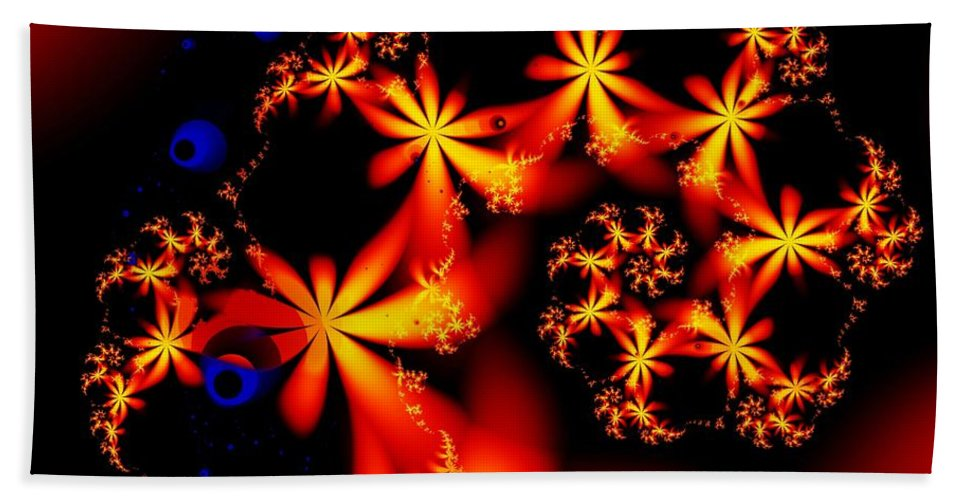 Flowers Beach Towel featuring the digital art Ring Of Posies by Ron Bissett