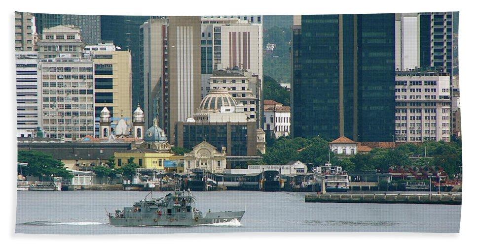 Rio De Janeiro Beach Towel featuring the photograph Rio De Janeiro V by Brett Winn