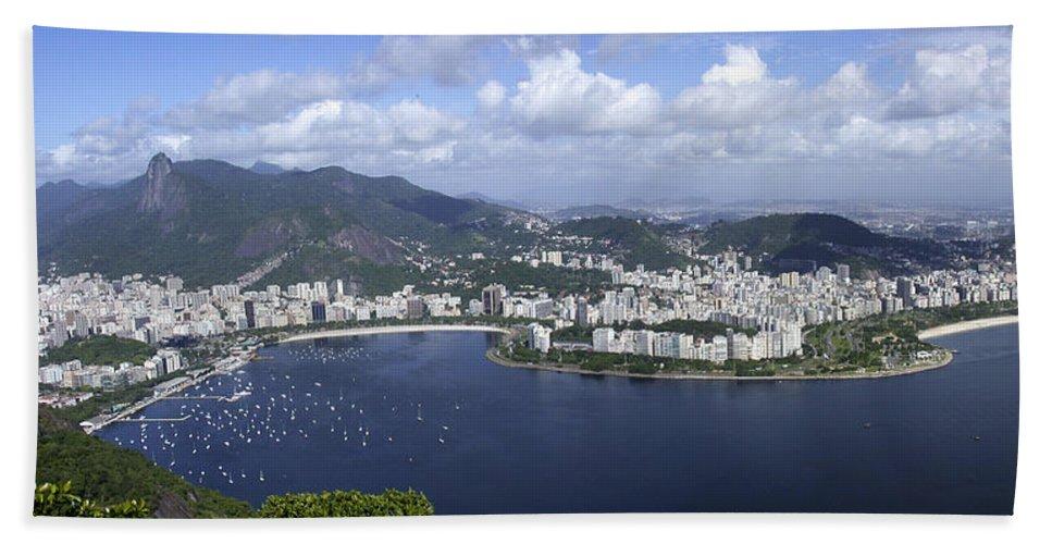 Rio De Janiero Beach Towel featuring the photograph Rio De Janiero Aerial by Sandra Bronstein